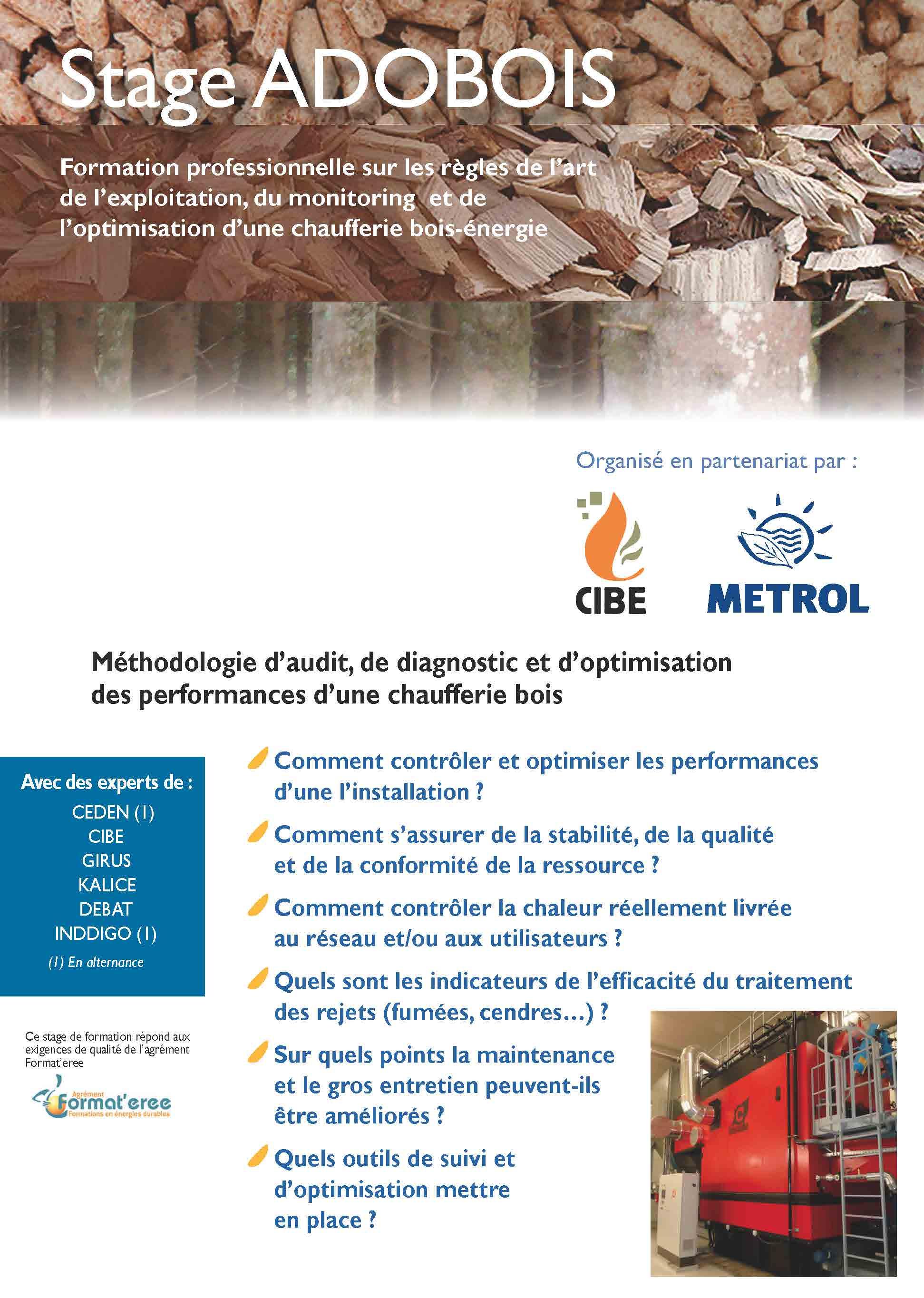 ADOBOIS : Méthodologie d'audit, de diagnostic et d'optimisation des performances d'une chaufferie bois.
